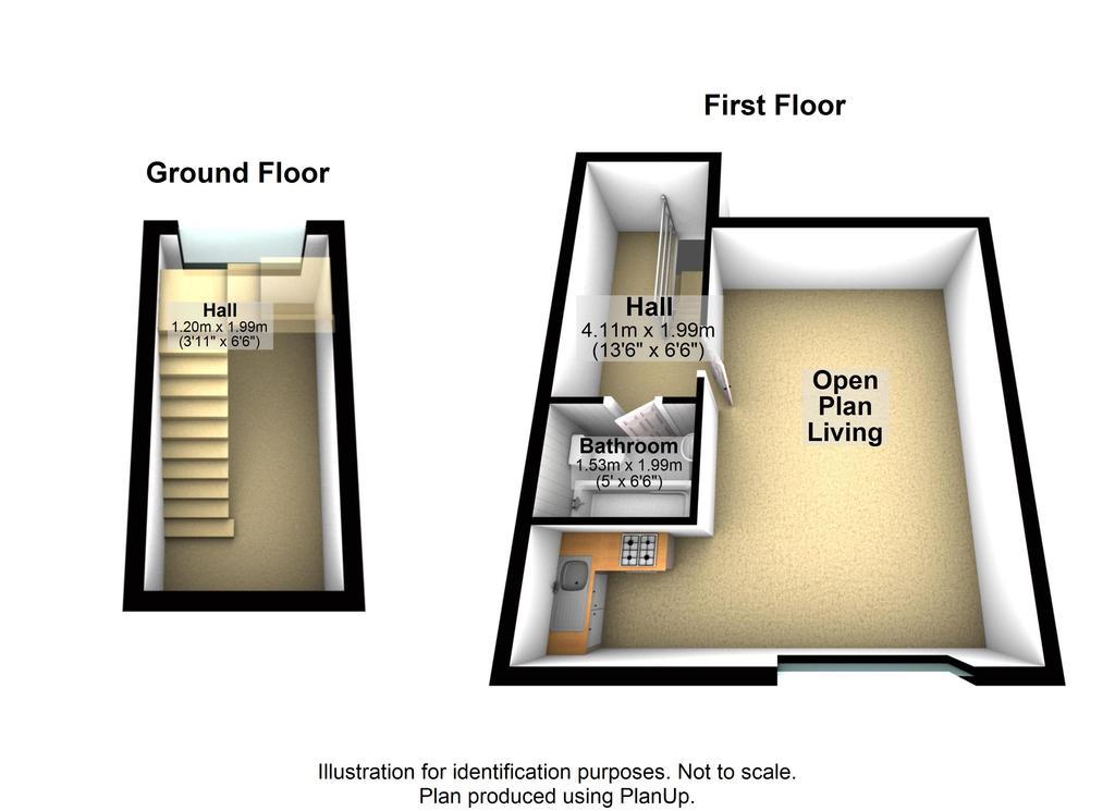 Floorplan: Flat 4 18 Belvide...