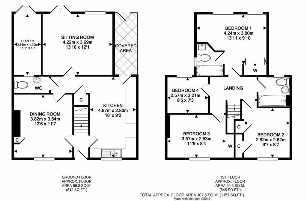 Floorplan: 43 Quantock View Bishops Lydeard print.JPG