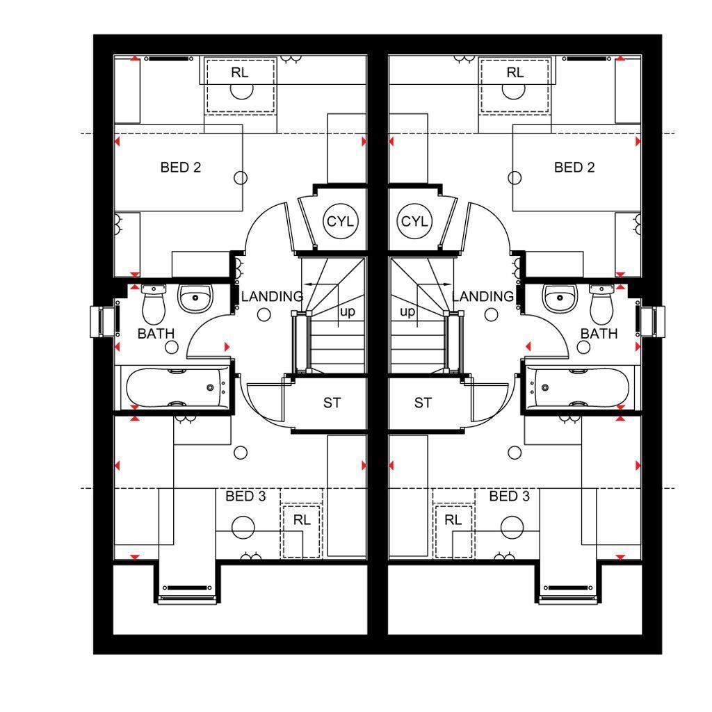 Floorplan 3 of 3: Rochester second floor