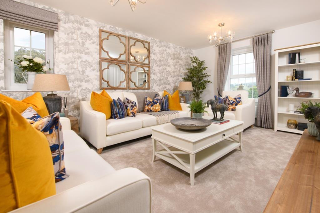 Spacious lounge in the 4 bed Allendale Show Home