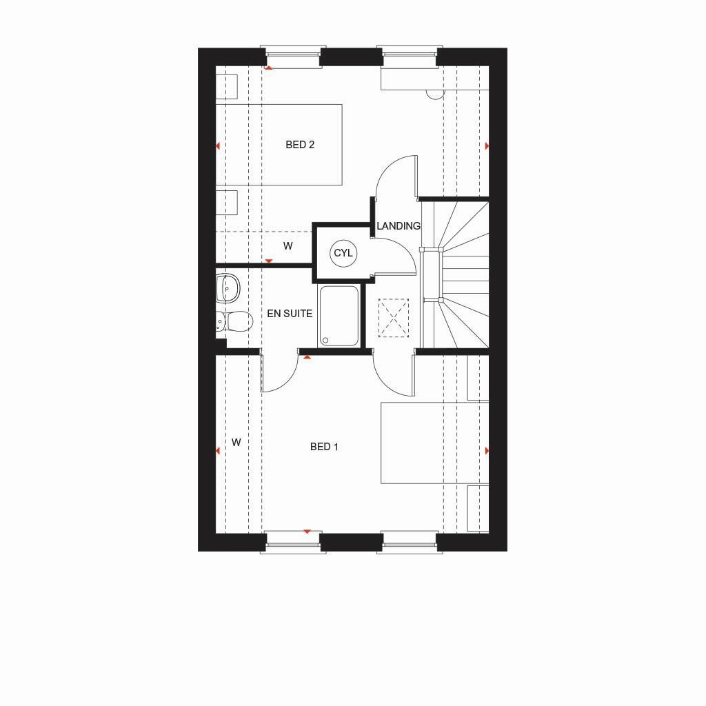 Floorplan 1 of 3: Fern second floor