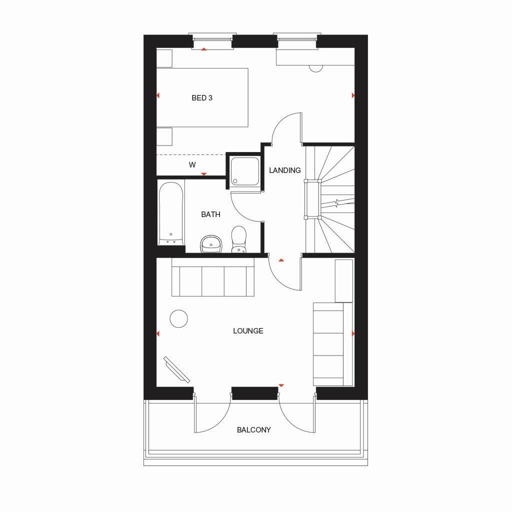 Floorplan 3 of 3: Fern first floor