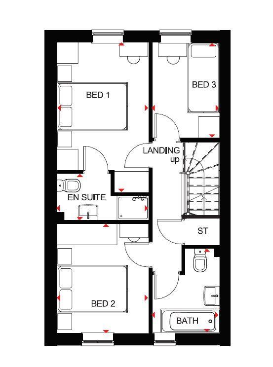 Floorplan 2 of 2: Folkestone first floor plan