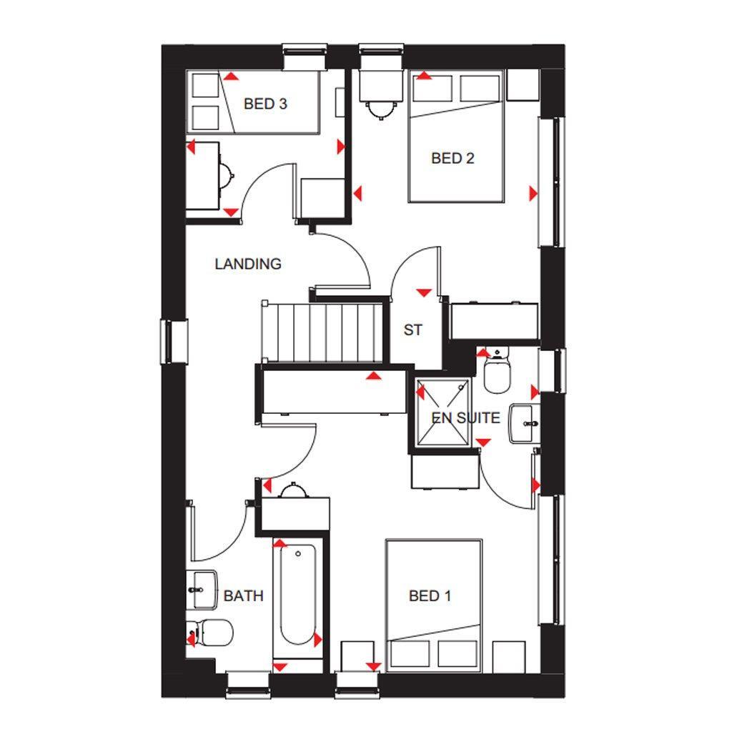 Floorplan 2 of 2: Ennerdale first floor plan