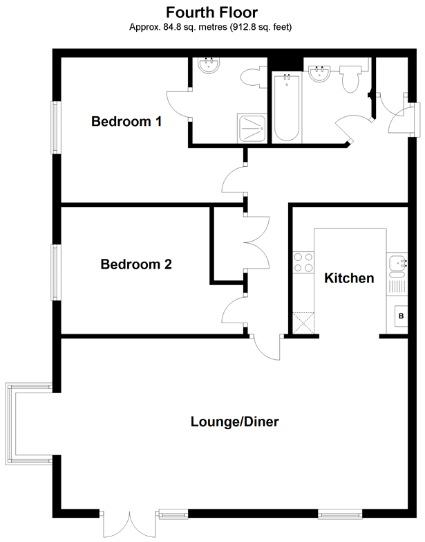 Floorplan: Fourth Floor
