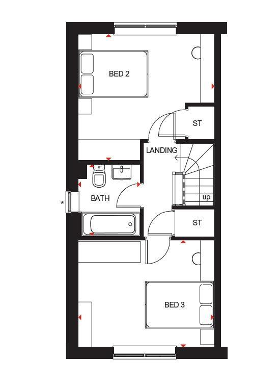 Floorplan 1 of 3: Hawley second floor plan