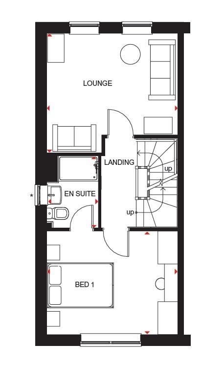 Floorplan 3 of 3: Hawley first floor plan
