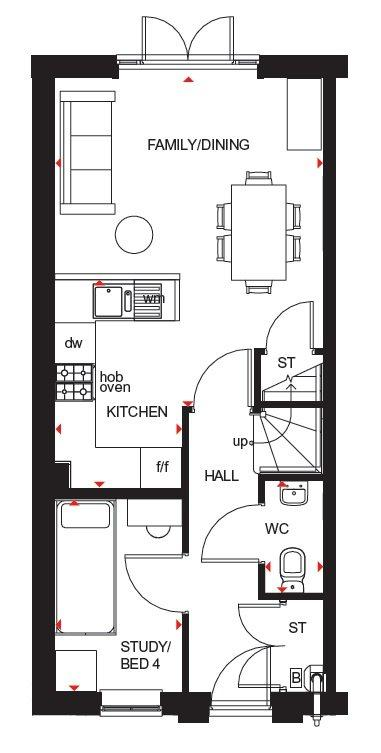 Floorplan 2 of 3: Hawley ground floor plan
