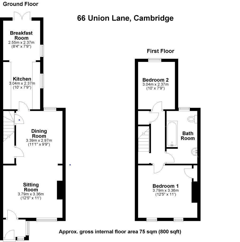 Floorplan: 66 Union lane,Cambrudge.jpg
