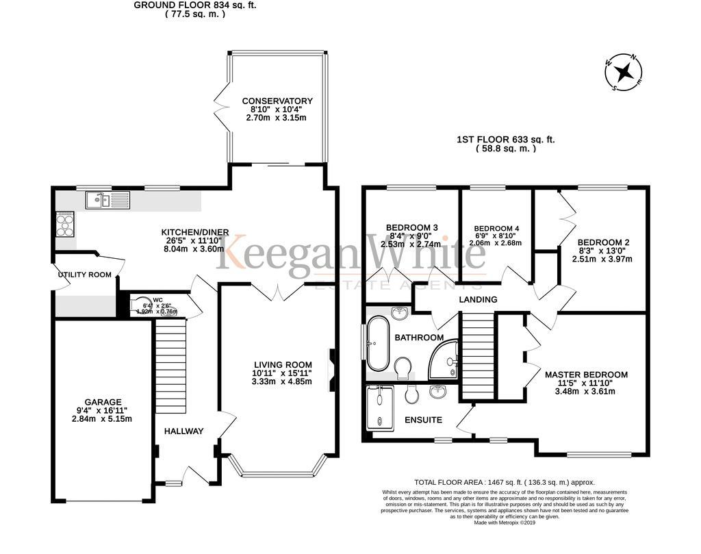 Floorplan: Keegan White Estate