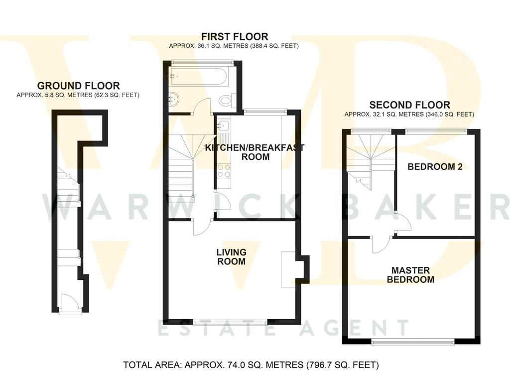 Floorplan 2 of 2: 10 A WESTERN ROAD, SHOREHAM BY SEA.jpg2 D.jpg