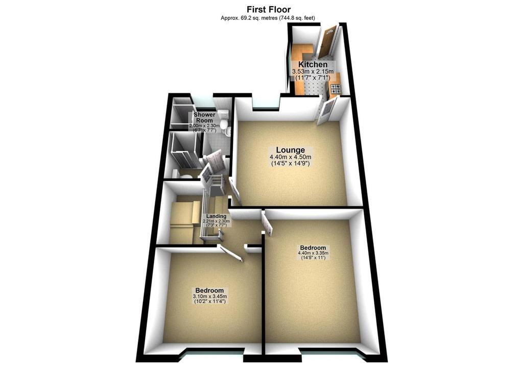 Floorplan 1 of 2: 101 Hotspur St, Heaton, Newcastle upon Tyne   Floo