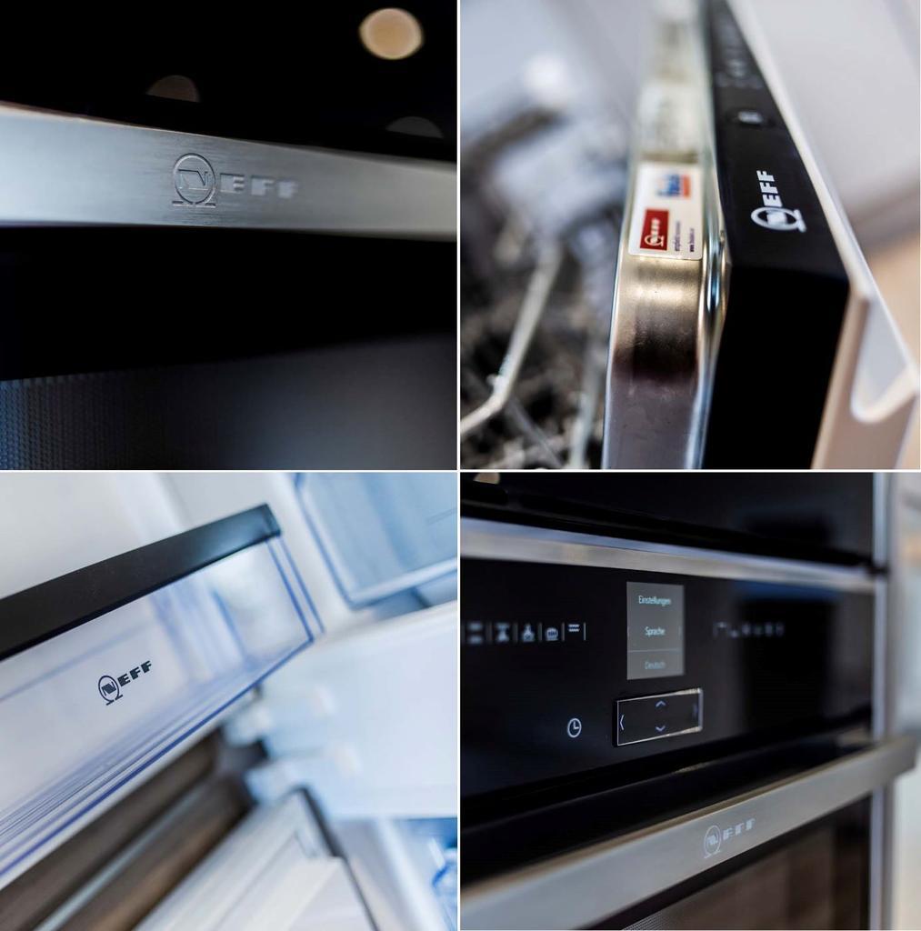 Integrated NEFFF kitchen appliances throuhout
