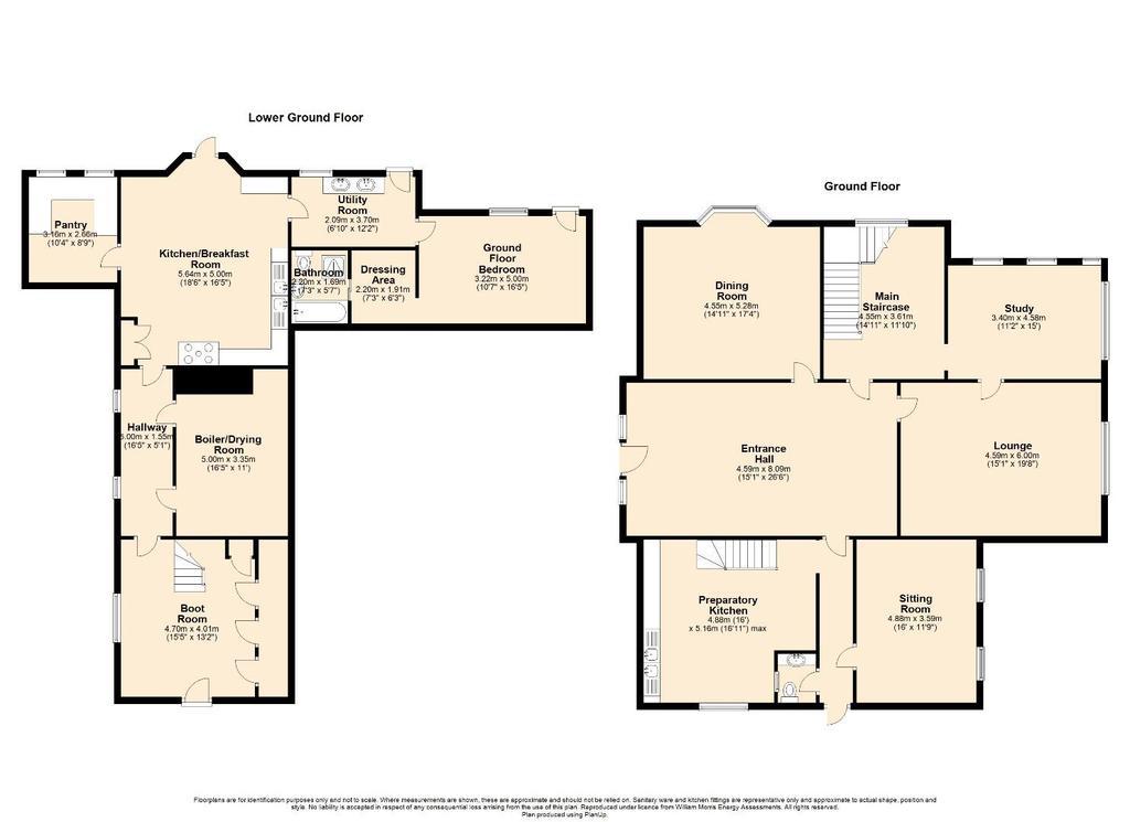 Floorplan 1 of 2: 2 D Floor Plan Lower Floors, Dolfirog Hall, Nr Llan