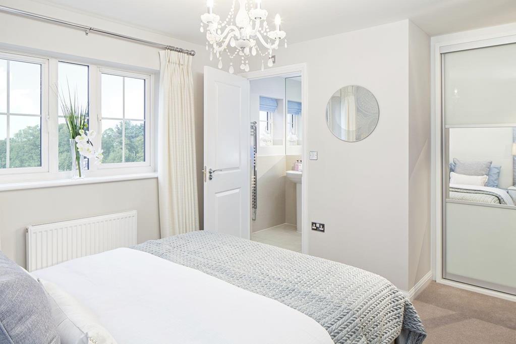 Typical Ennerdale master bedroom with en suite