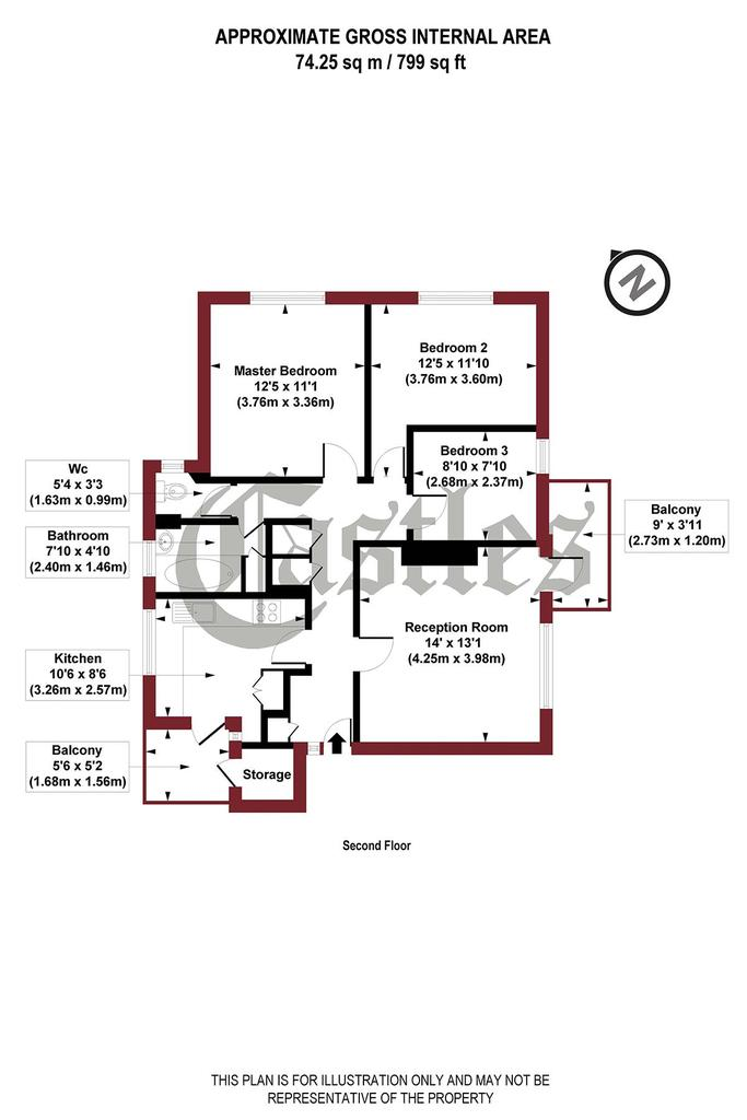 Floorplan: Osborne Road, N4