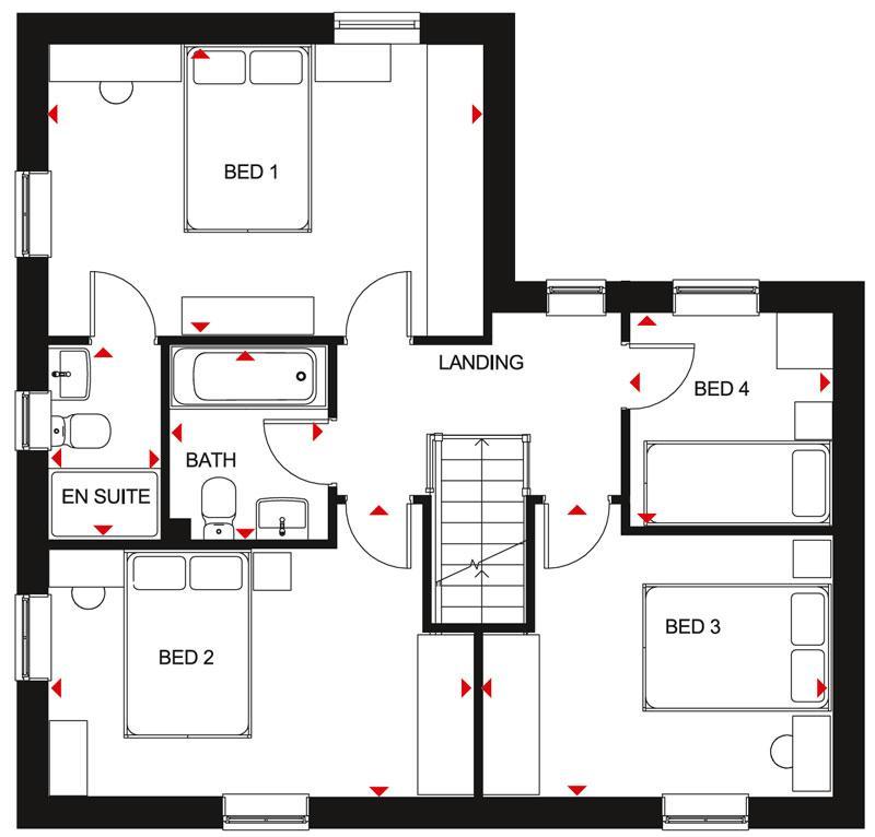 Floorplan 1 of 2: Alderney First Floor Plan