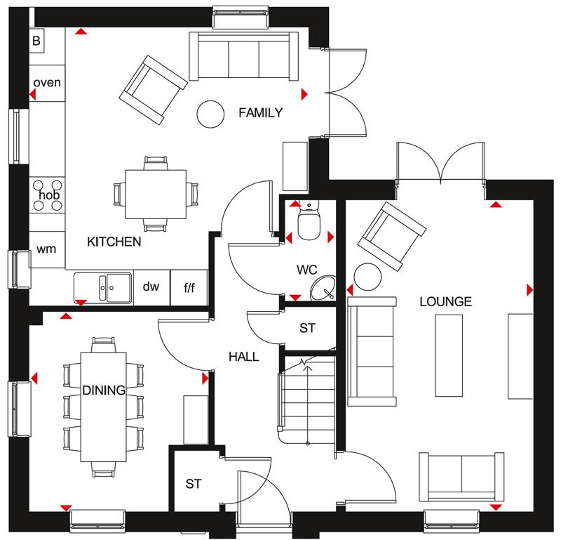 Floorplan 2 of 2: Alderney Ground Floor Plan