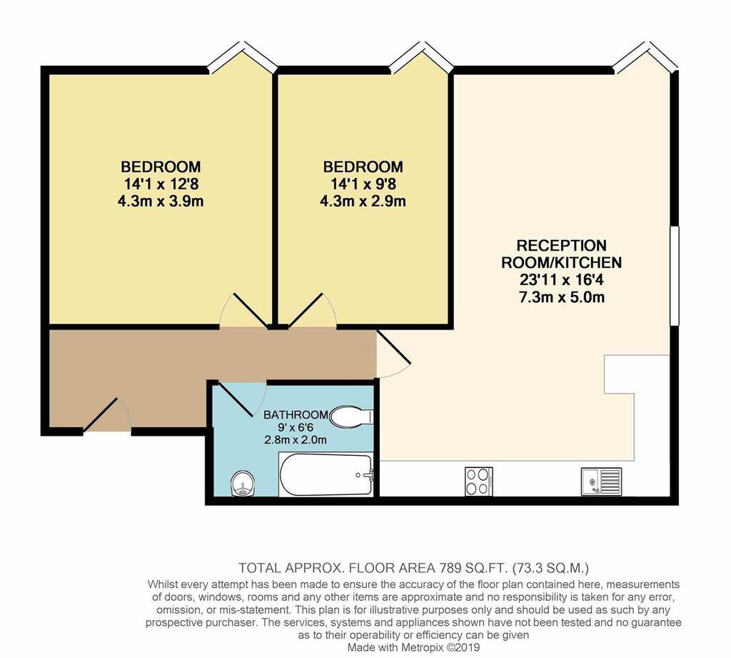 Floorplan: Floor Plan   Flat 14 Karyatis Court Charles Road E