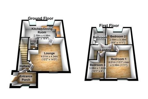 3 bedroom townhouse to rent - 46 Heritage Mills