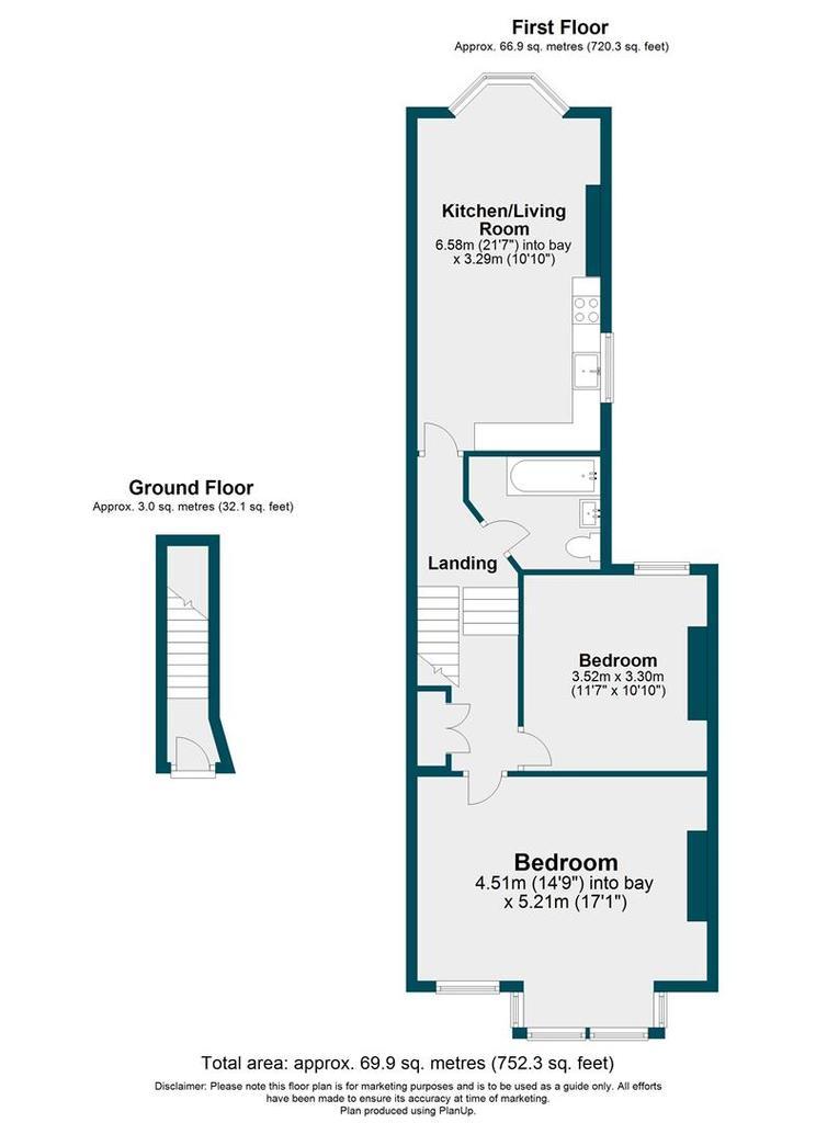 Floorplan: 100 B, Ringstead Road.JPG