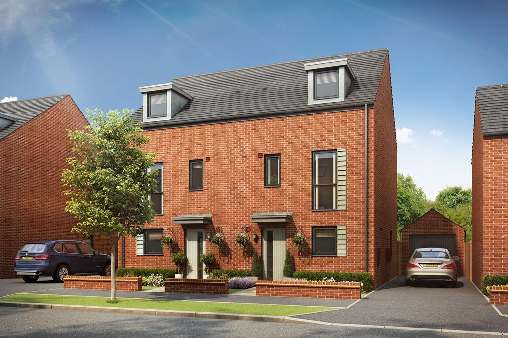 External CGI of the Woodcote at Ladden Garden Village, Yate.