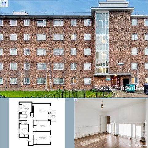 3 bedroom flat to rent -  MILLBROOK HOUSE , FRENSHAM STREET OFF PECKHAM PARK ROAD