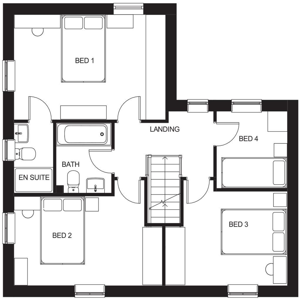 Floorplan 2 of 2: Alderney first floor plan