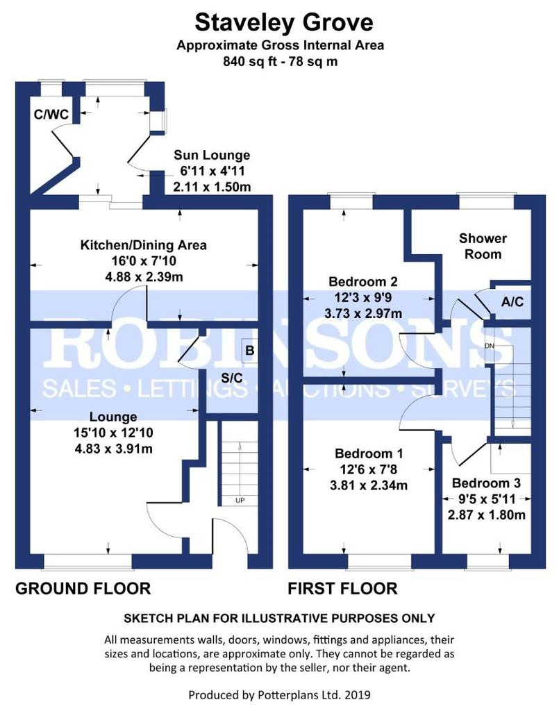 Floorplan: Staveley Grove