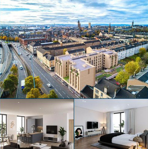1 bedroom flat for sale - Plot 39 - City Garden Apartments, St. Georges Road, Glasgow, G3