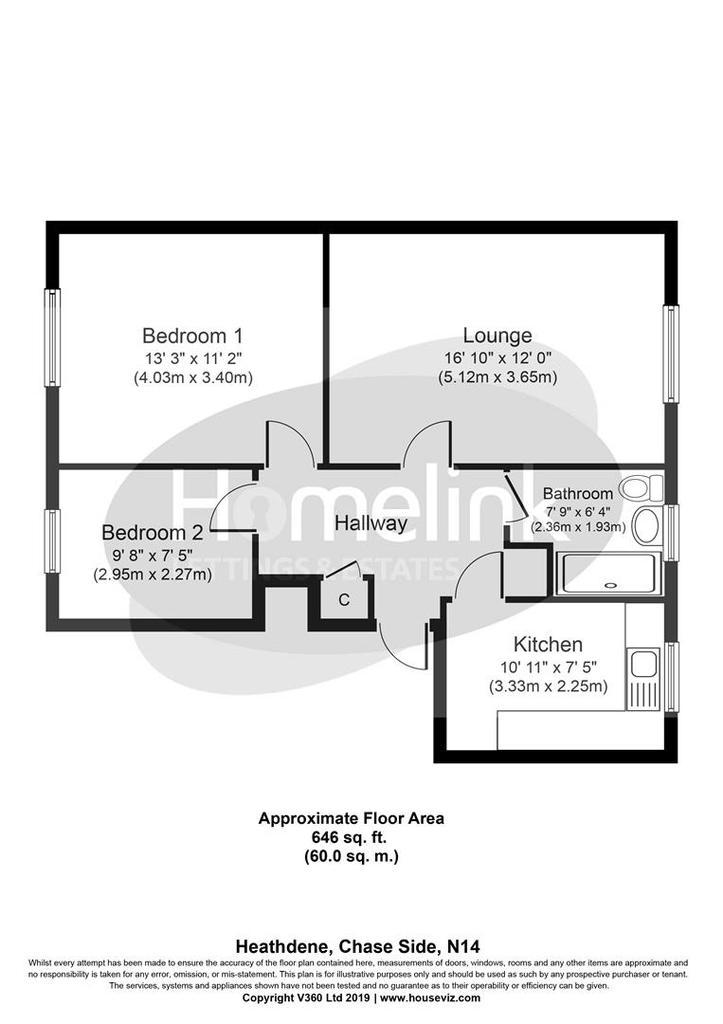 Floorplan: Heathdene, Southgate N14