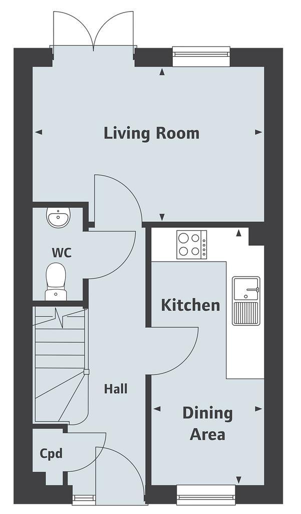 Floorplan 1 of 2: The Harcourt Ground Floor