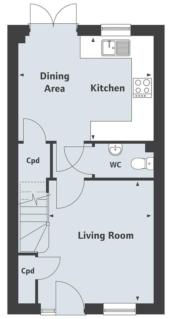 Floorplan 1 of 2: The Hardwick Ground Floor