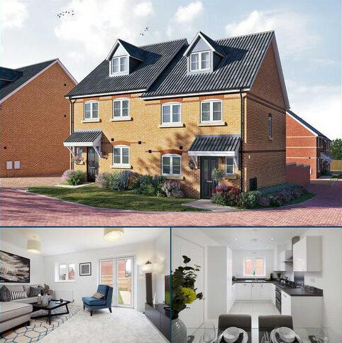 4 bedroom semi-detached house for sale - Plot 28, The Aslin at Meridian Gate, Newmarket Road, Royston, Hertfordshire SG8