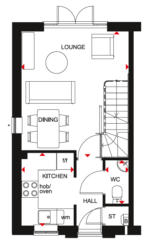 Floorplan 1 of 2: Washington gf plan
