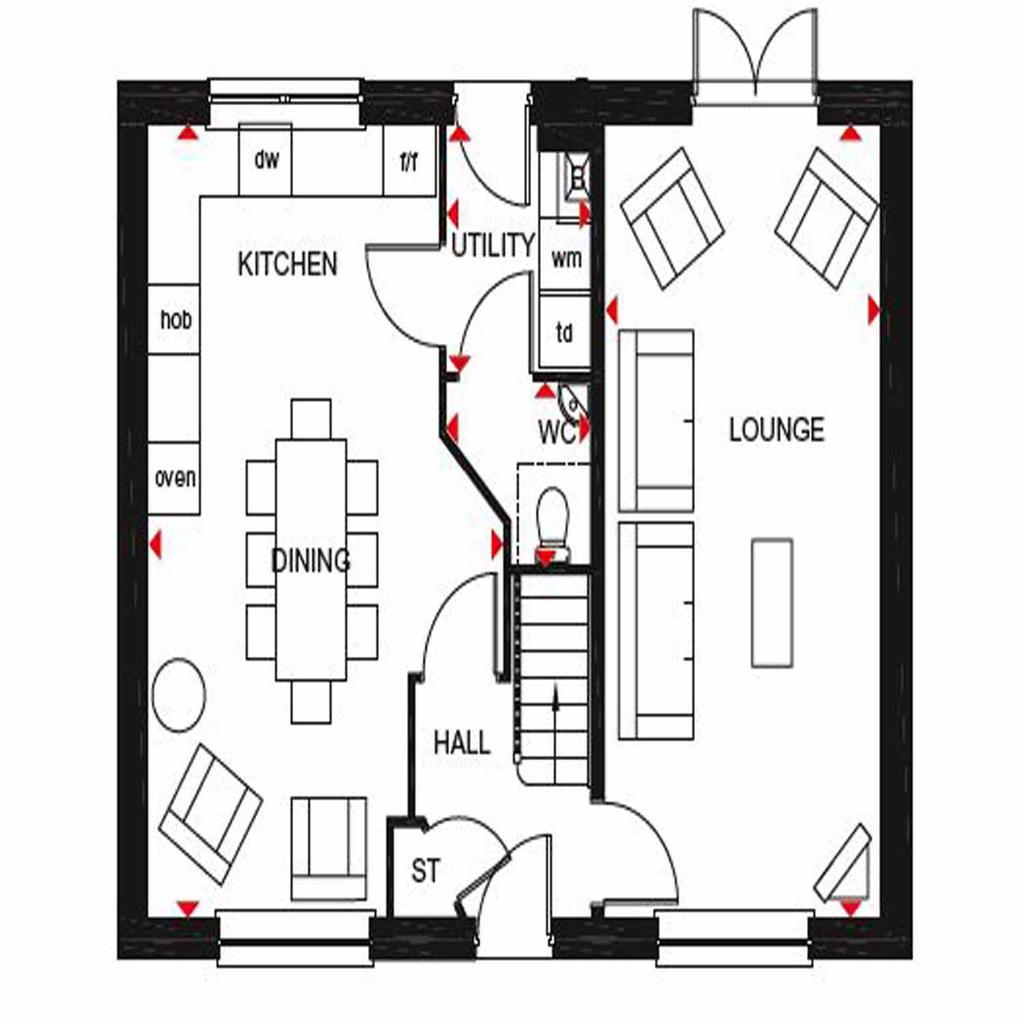 Floorplan 1 of 2: Thornbury GF