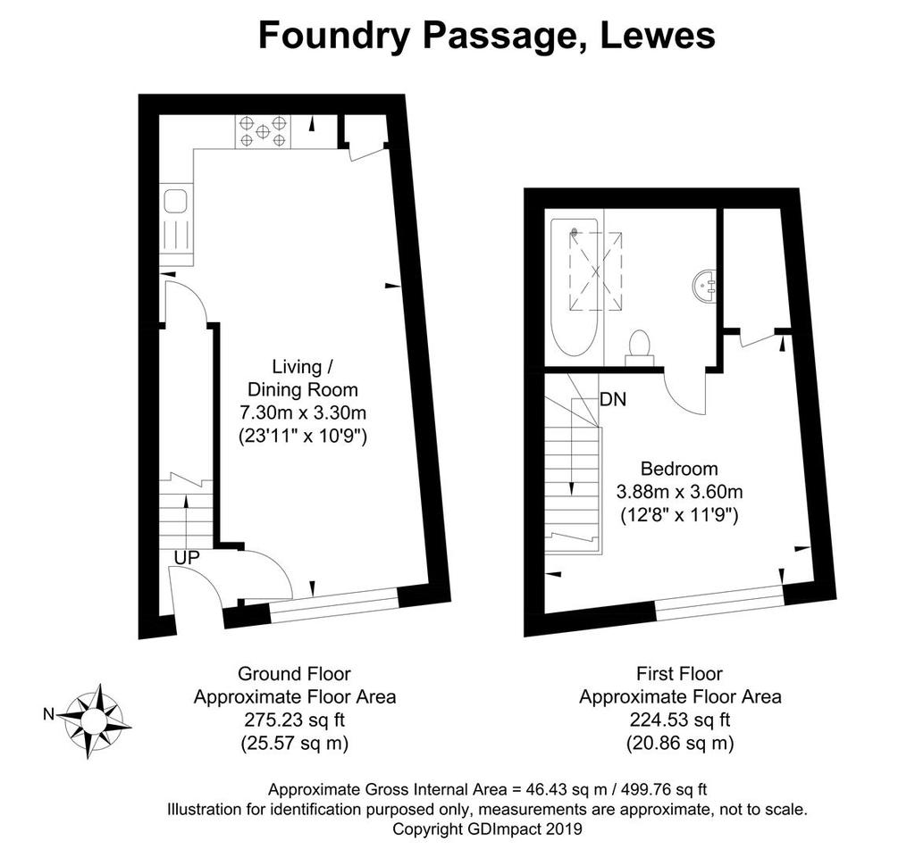 Foundry Passage, Lewes 1 Bed Apartment For Sale