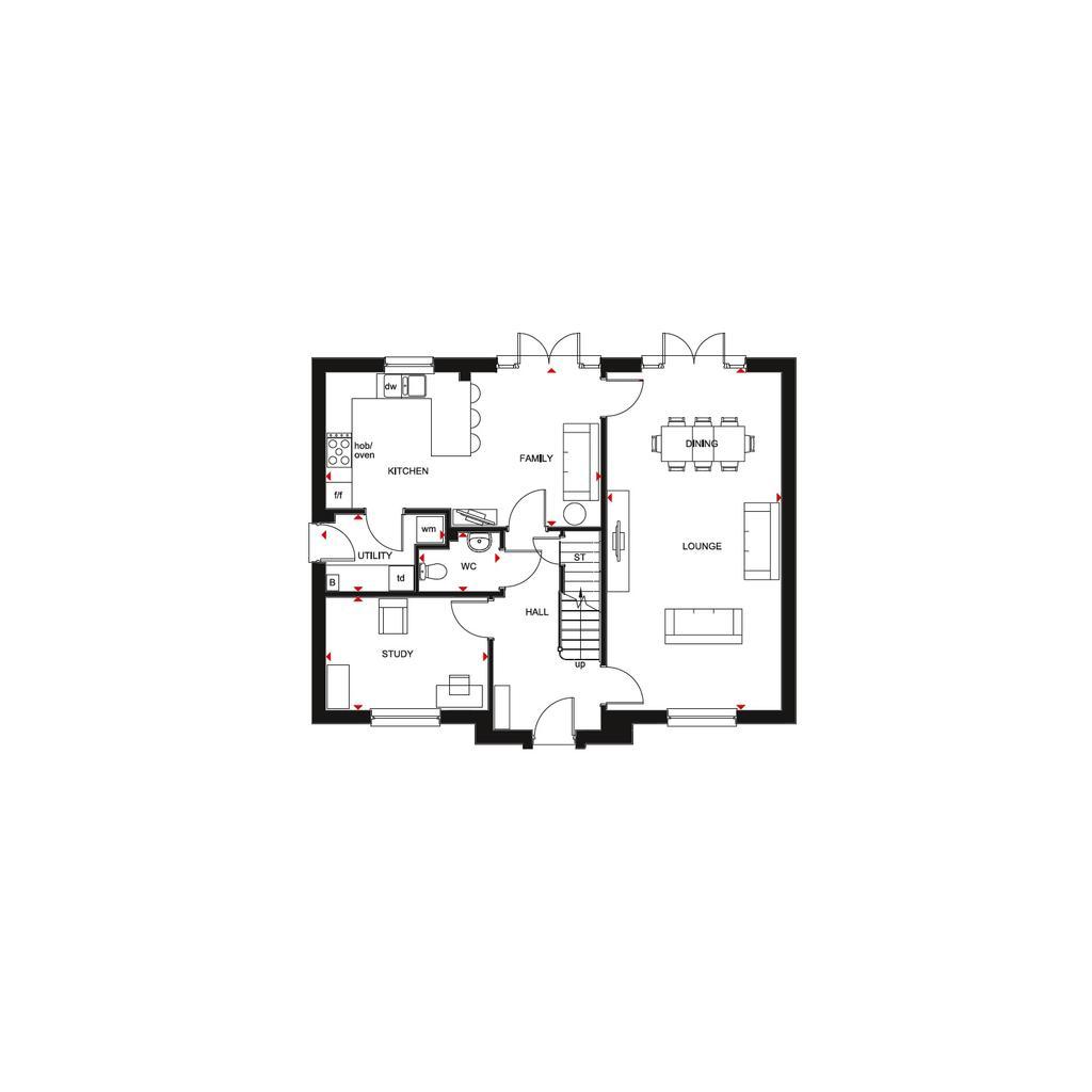 Floorplan 1 of 2: Buchanan 2018 GF floorplan layout November 2019