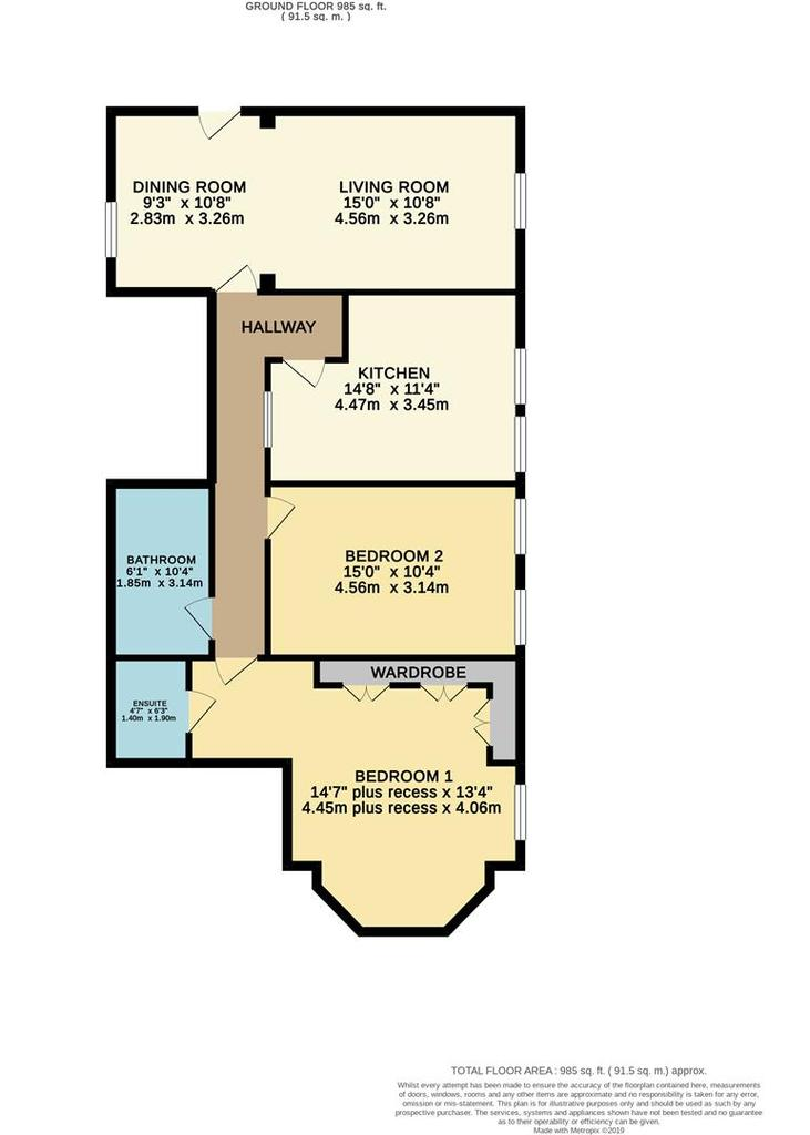 Floorplan: Flat B26 Kent Road High.jpg