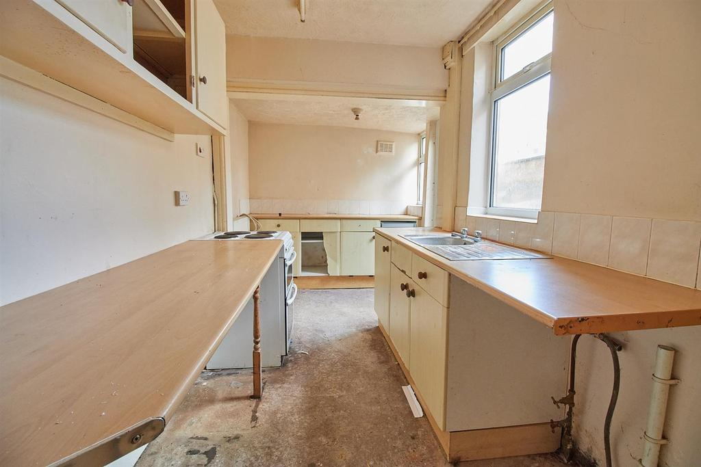 Extended kitchen to rear