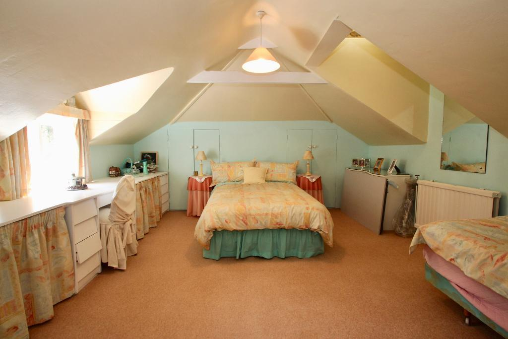 This bedroom is in the old part