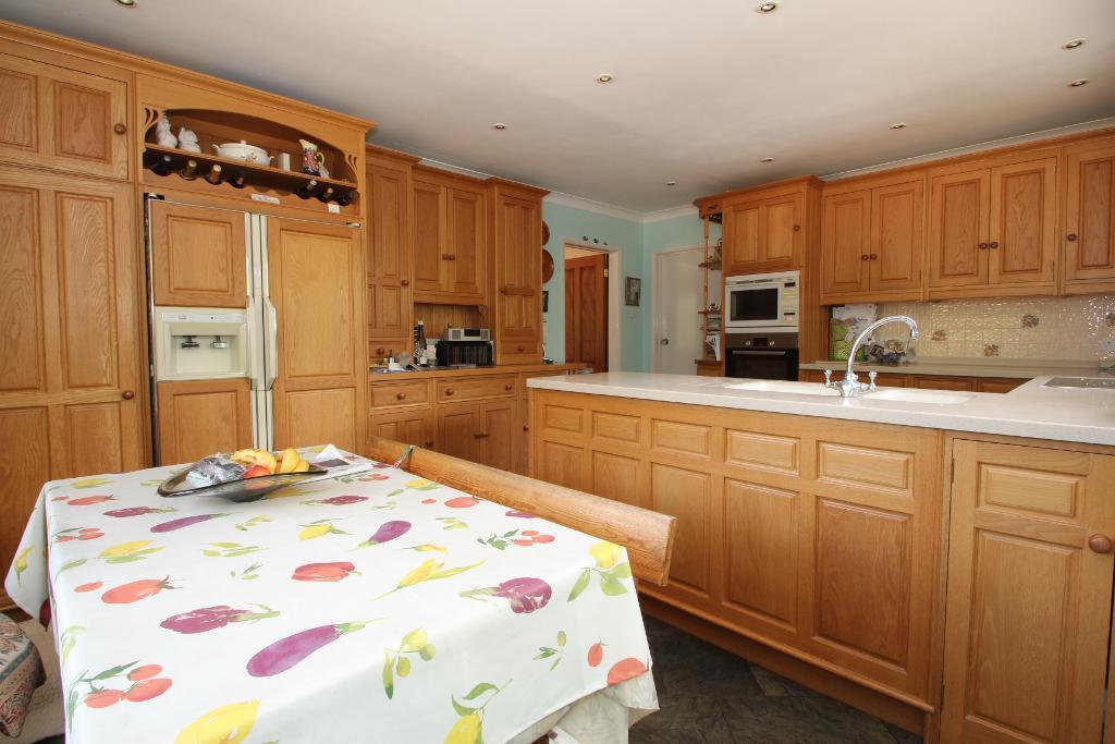 Kitchen area open plan to Breakfast Room