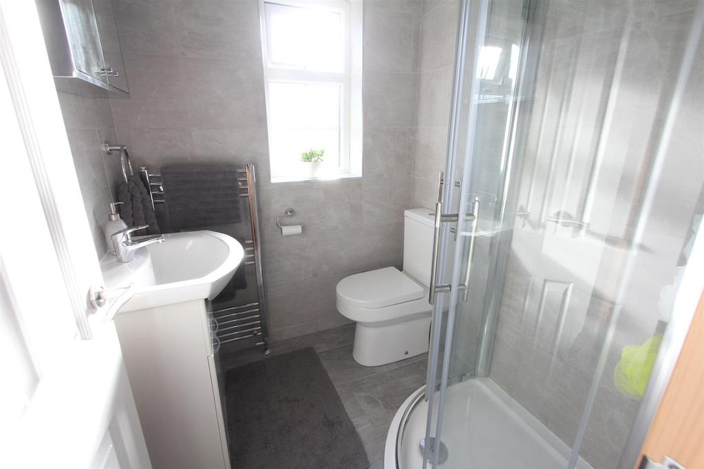 Refitted shower room to rear