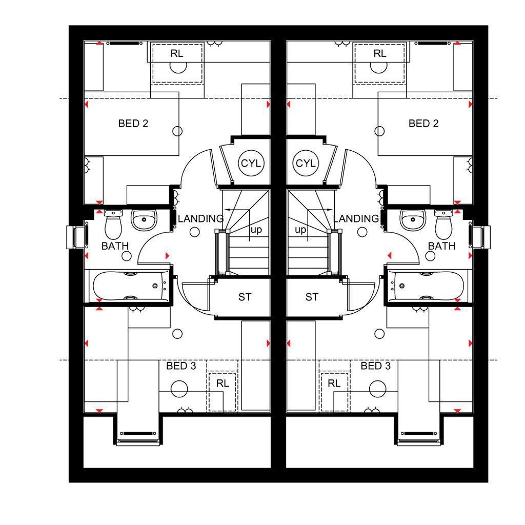 Floorplan 3 of 3: Rochester second floor