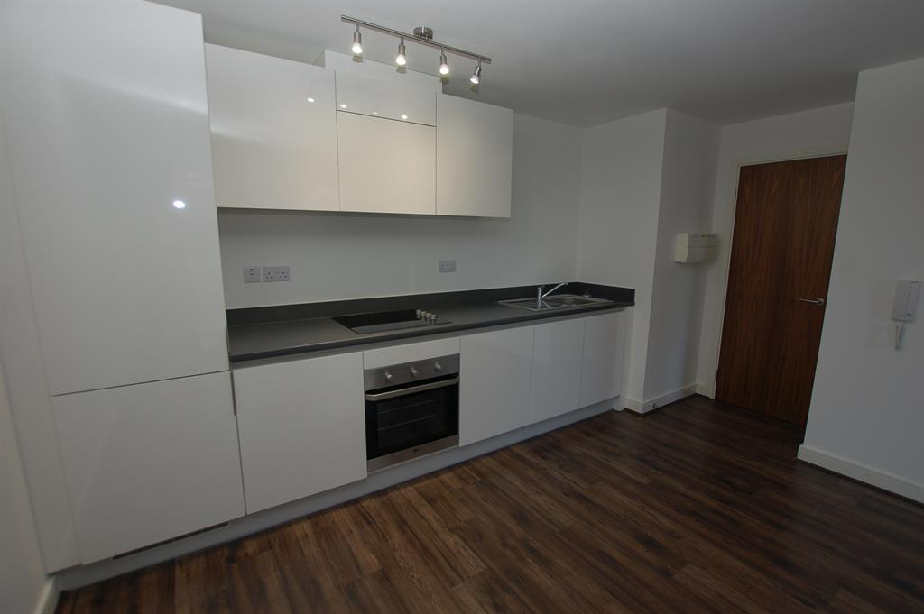 Open plan lounge kitchen