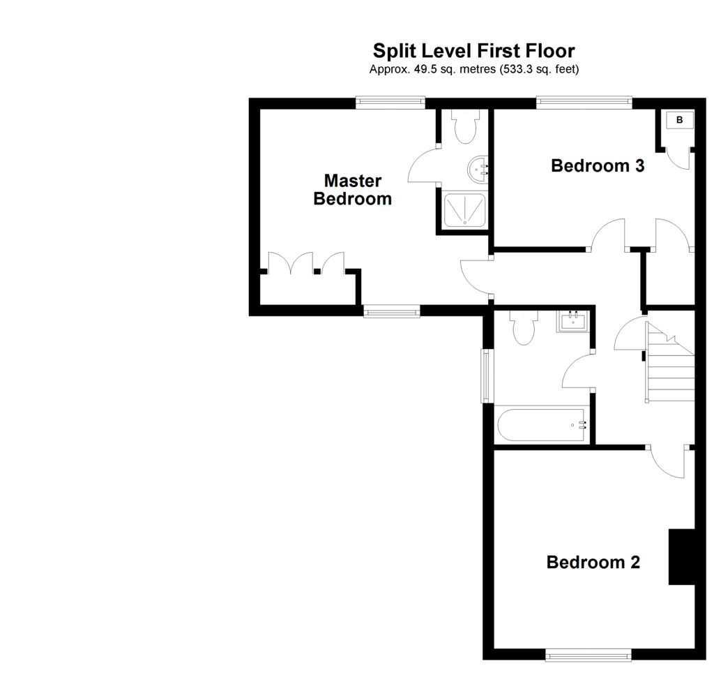 Floorplan 1 of 2: Split Level First Floor