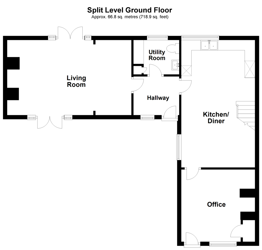 Floorplan 2 of 2: Split Level Ground Floor