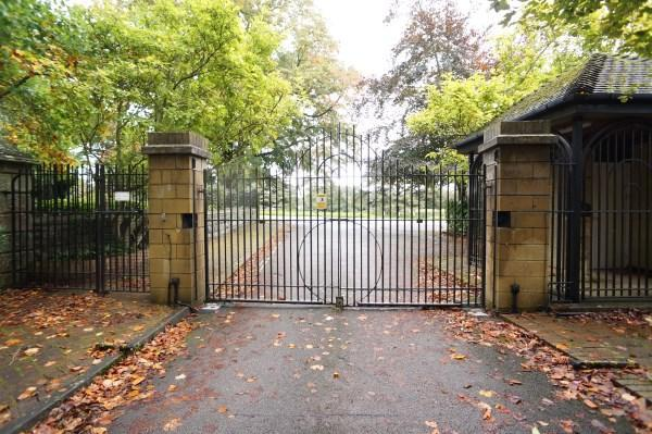 Gated Entrance To Cedar Hall