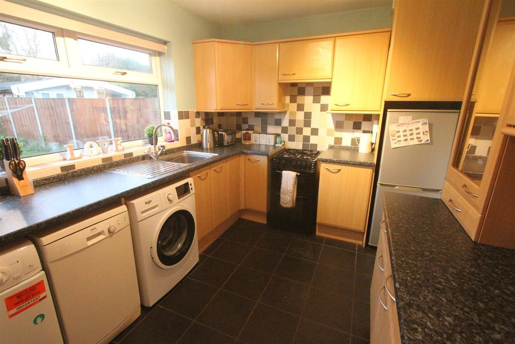 Extended fitted kitchen to rear