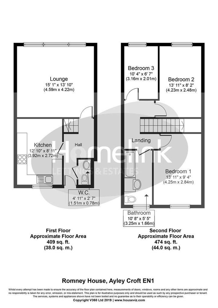 Floorplan: Romney House, Ayley Croft EN1